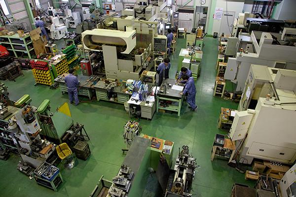 工場内 俯瞰写真